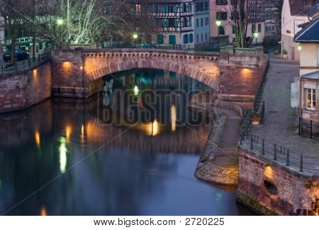 Strasbourg River At Dusk