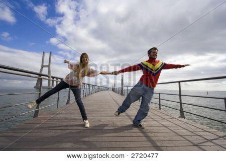 Young Couple Outdoor Enjoying Life