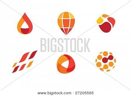 abstract design element set
