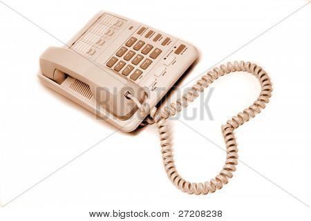 Office telephone with love sign