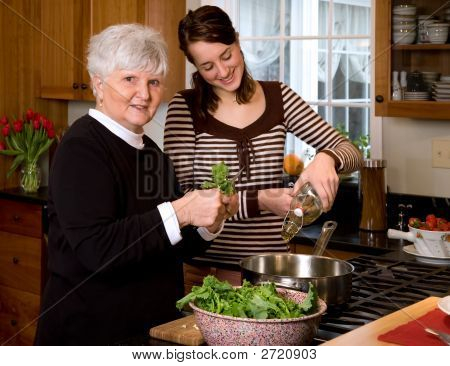 Cooking With Grandma.