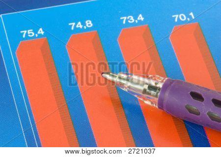 Gráfico colorido negócios