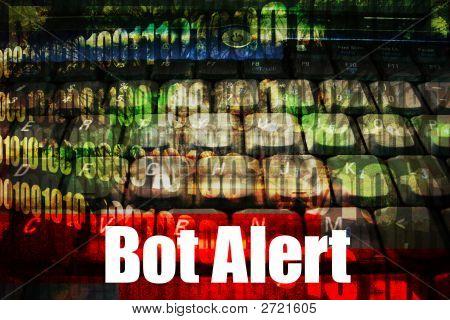 Bot Alert Warning Message Background