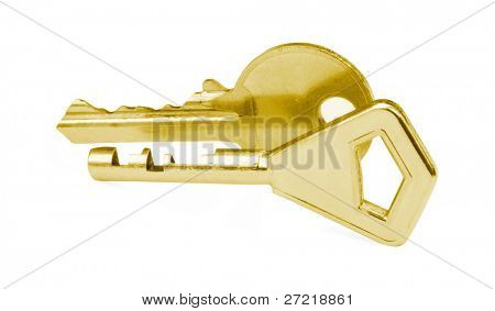 isolated keys on a white background