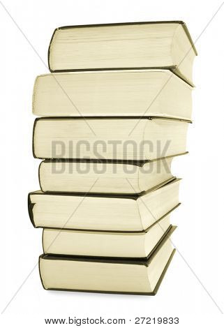 One old book isolated on white background
