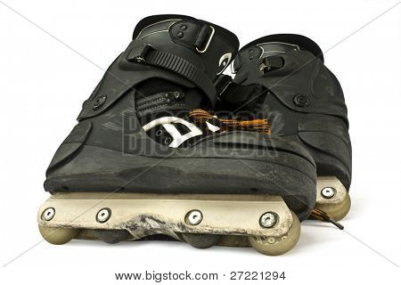 Inline skates isolated over white
