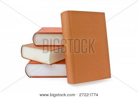 isolated books on a white background