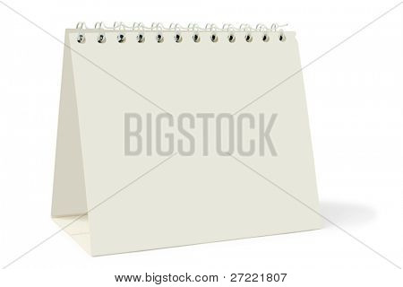 desk calendar on white background