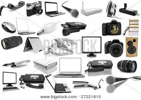 objetos isolados em um fundo branco