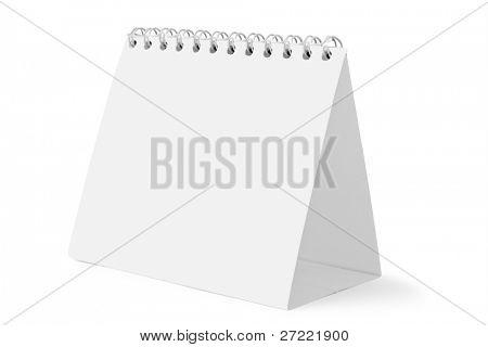 desk calendar on white background