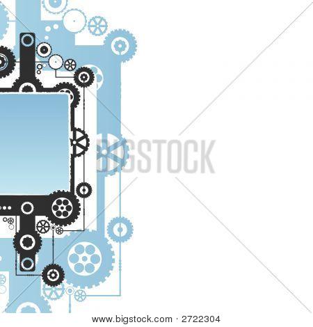 Modern Cog Clockwork Background
