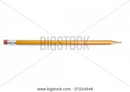 Lápis isolado no fundo branco puro