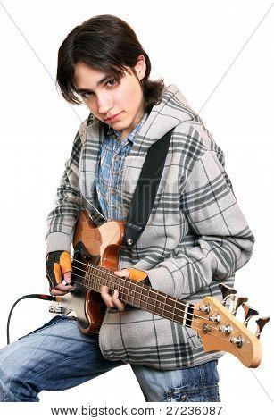 Young Man Rock Musician
