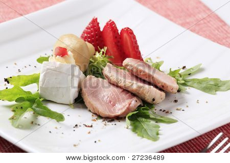 Medium rare pork tenderloin