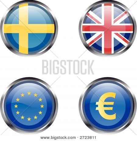European Flag Buttons - Part 6