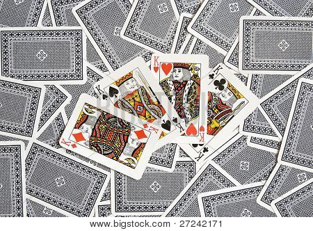 Poker cards:Four of Kind - One of the strongest playing combinations