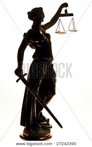 Estátua da Justiça. Silhueta