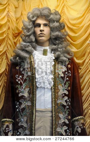 Dummy in clothes of a nobleman of the eighteenth century