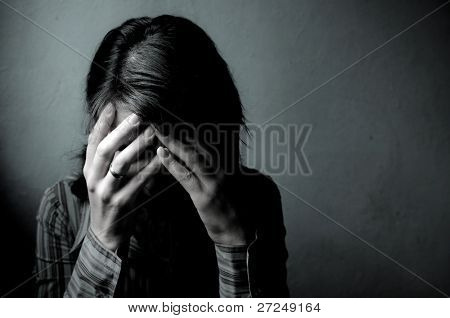 Woman Depressed. Series