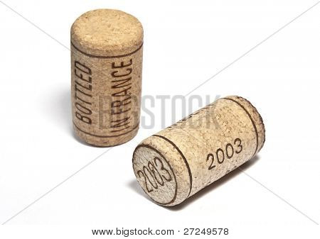 """Bottled in France"". Wine cork. Series"