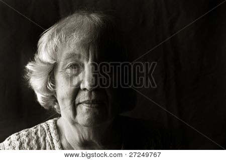 "Portrait of an elderly woman. ""Black and white portraits"" series"