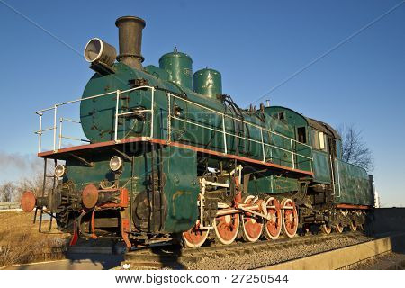very old Russian locomotive