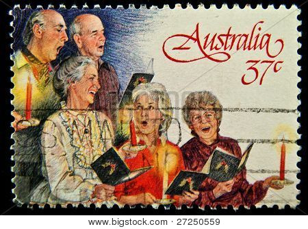 AUSTRALIA - CIRCA 1988:stamp printed by Australia, shows Church Choir, circa 1988.