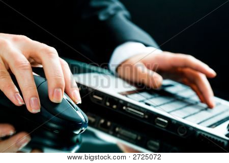 Working With Laptop