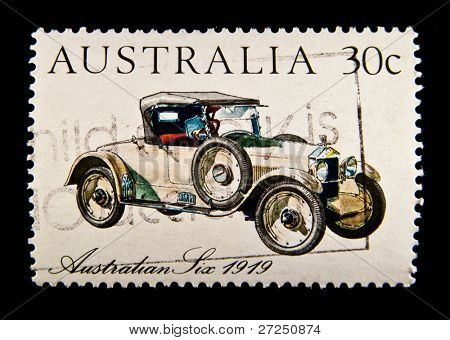 AUSTRALIA - CIRCA 1984: stamp printed by Australia, shows Australian-made vintage car, circa 1984