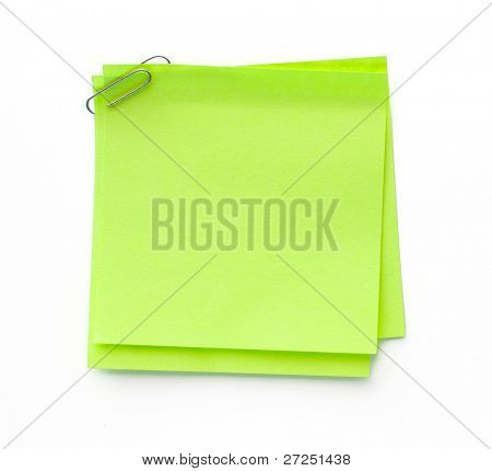 sticker note with clip