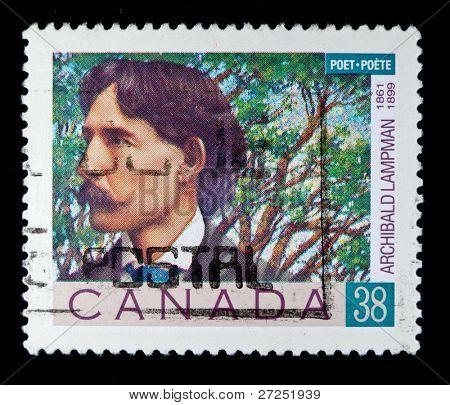 CANADA - CIRCA 1989: stamp printed by Canada, shows poet Archibald Lampman, circa 1989