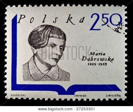 POLAND - CIRCA 1980s: A Stamp printed in Poland shows Maria Dobrowska - poet and essayist, circa 1980s