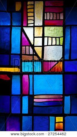 Resumen vidriera en el monasterio de Montserrat (fundada en 1025)