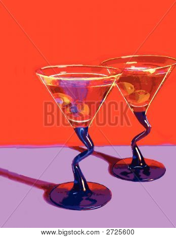 Two Martini Glasses