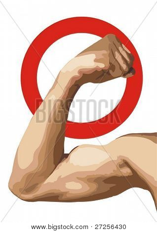 biceps. force put a veto