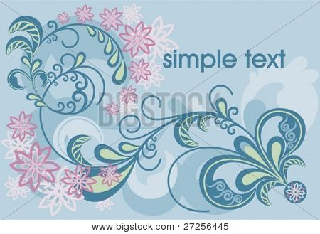 floral background. beautiful vector illustration