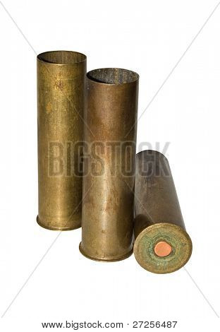 cartridges for hunting isolated on white