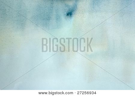 watercolor background in pastel blue and yellow color