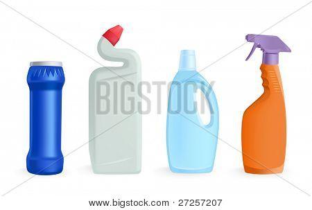 detergents - vector illustration