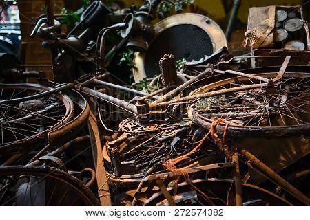 Old Rusty Bikes Bicycles Retro