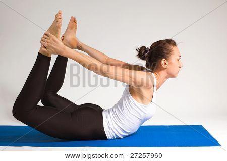 yogi girl doing exercise, 100 of 116