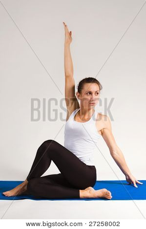 yogi girl doing exercise, 111 of 116