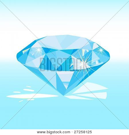 vector blue diamond