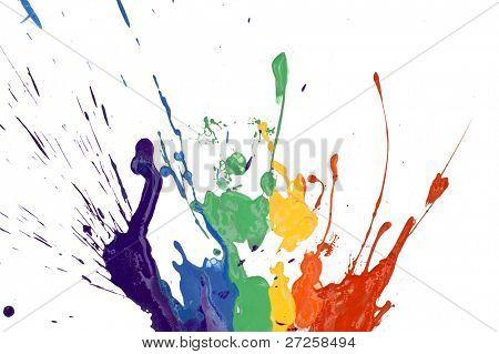 rainbow paint isolated on white background