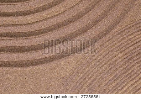 zen garden of sand with copy-space
