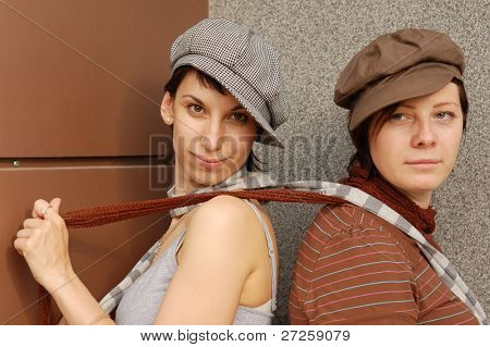 two woman's outdoor portrait