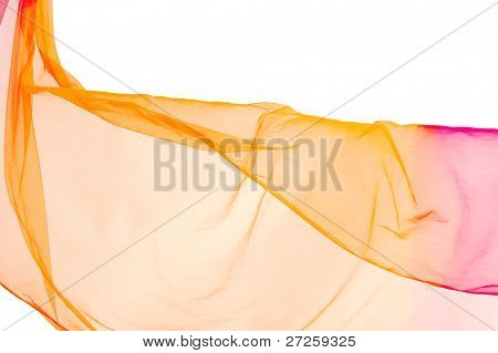 delicate light fabric background isolated on white background