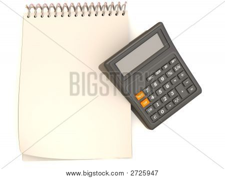 Calculator, Notebook
