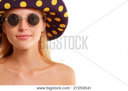 summer girl isolated on white background