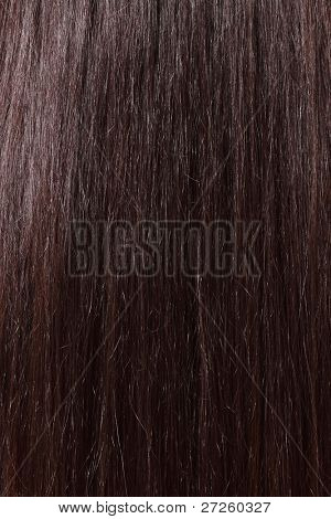 hair sleek brown female